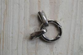 RVS einddoppen 4 mm met veerring per stuk