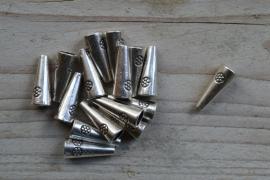 Metalen perlenkap ca. 8 x 20 mm pro 4 stück