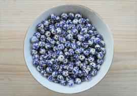 Delfts blauw rond ca. 8,5 mm (per stuk)