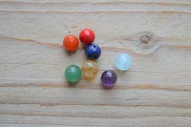 7 Chakra edelsteen kralen in ca. 8 mm