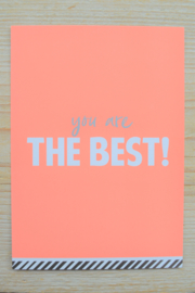Kaart 'You are the best'
