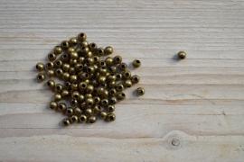 Bronskleurige kralen ca. 5 mm per 15 stuks