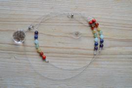 DIY Suncatcher met 7 Chakra edelsteen kralen
