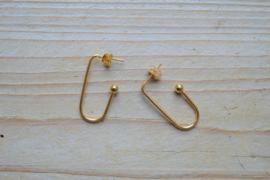 RVS Goldplated oorbellen