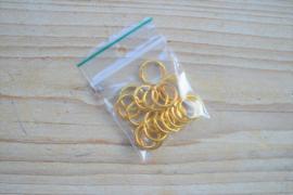 Goudkleurige ringetjes open ca. 12 mm