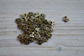 Bronskleurige bedel vlinder ca. 10 x 10 mm per 5 stuks