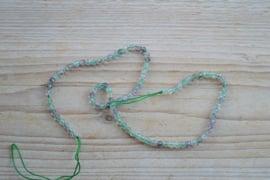 Regenboog Fluoriet gefacetteerde ronde kralen 4 mm A klasse