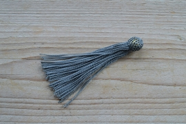 Kwastje nylon grijs ca. 12 x 50 mm