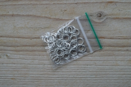 Metalen ringetjes open verzilverd 8 mm