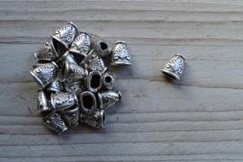 Metalen perlenkap ca. 11 x 12 mm pro 2 stück