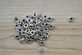 Metalen bedelhanger ca. 7 x 10 mm per 5 stuks