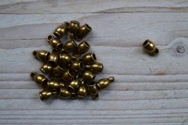 Bronskleurige eindkap 4 mm ca. 6 x 11 mm per 2