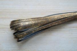 Plat rundleer Dream Wish Believe 5 mm Metallic Bronze per 10 cm