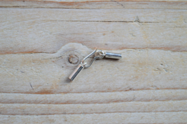 Sterling Silber Endkappen mit Hakenverschluss ca. 5 X 27 mm