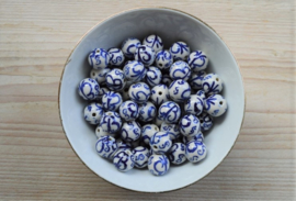 Delft Blaue Perle mit Schmetterling ca. 16 mm (pro Stück)