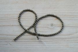 Pyrit runde Perlen 4 mm