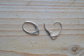 Oorbel sterling zilver 'Leverback'  ca. 11 x 18 mm (per 2)