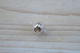 Magneet sluiting sterling zilver diameter ca. 12 mm