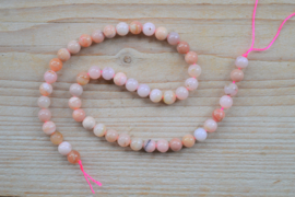 Peruviaans roze opaal ronde kralen 8 mm