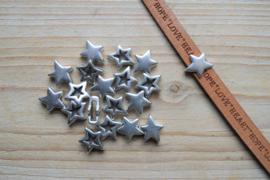 Metalen leerschuif ster 10 mm ca. 13 x 15 mm per stuk