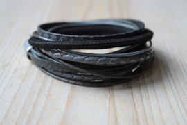 Leather Wrap XL Zwart/Grijs