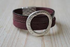 DIY Pakket Armband met magneet en schuiver Bordeaux