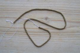 Hematiet Plated oud goud ronde kralen 3 mm