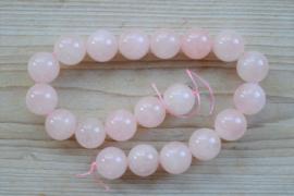 Rosenquartz runde Perlen 20 mm