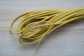 Rundes nappaleder snakestyle 4 mm Gelb pro 10 cm