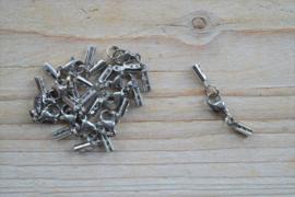 Veterklemmen met sluiting (roestvrij staal) ca. 3 x 33 mm (per setje)