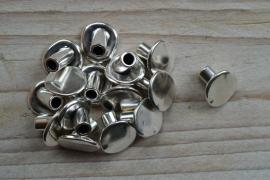 Metalen eindkap Knoop 4 mm ca. 14 x 16 mm per stuk