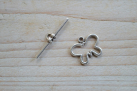 Metalen kapittelsluiting vlinder ca. 17 x 20 mm per 2 stuks