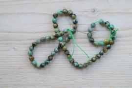 Afrikaans turquoise gefacetteerde ronde kralen 6 mm