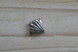 Kraal sterling zilver Schelp ca. 16 x 17 mm