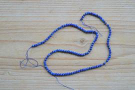 Lapis Lazuli gefacetteerde ronde kralen ca. 3 mm (seedbeads)