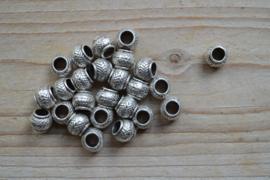 Metalen leerschuiver ca. 9 x 11 mm per stuk