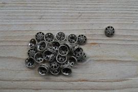 Metalen kraalkap ca. 11 mm per 10 stuks