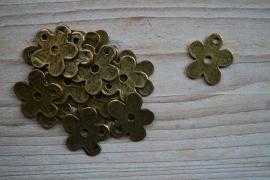 Bronskleurige bedel bloem ca. 22 x 24 mm per 2 stuks