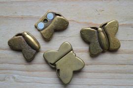 Bronskleurige Leersluitingen en leerschuivers