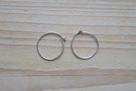 Oorbel sterling zilver Creool ca. 20 mm (per 2)
