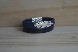 DIY Pakket Armband met magneet en schuiver Blauw A