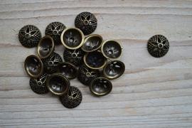 Bronskleurige kraalkap ca. 15 mm per 10 stuks