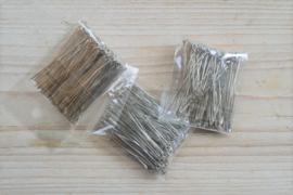 Metalen kettelstiften 45 mm ca. 100 stuks