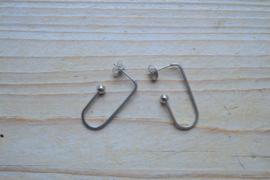 RVS oorstekers ca. 29 mm per paar