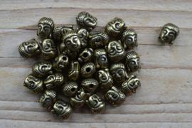 Bronskleurige kraal Boeddha I ca. 8 x 11 mm per stuk