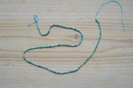 Turkoois ronde kralen ca. 2 mm (seedbeads)