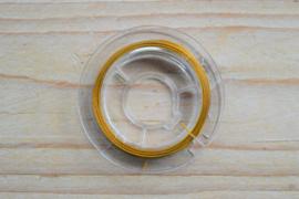 Rol gecoat staaldraad 10 meter goud 0,38 mm