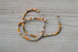 Crazy Lace Achat runde Perlen 4 mm
