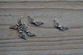 Metalen engelvleugels ca. 7 x 22 mm per 5 stuks