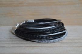 DIY Pakket Armband XL N Zwart/Grijs